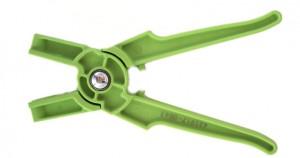 klešče za označevanje in igle, Zelene klešče za vstavljanje začasnih ušesnih znamk za drobnico