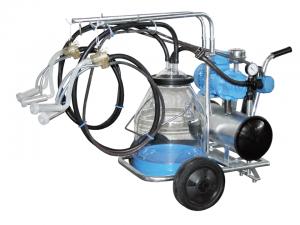 oprema za molžo goveda in drobnice, milkline, molzišče, prevozni voziček za molžo